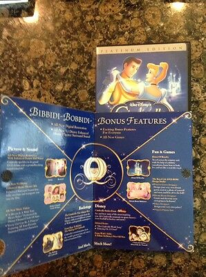 Cinderella(DVD,2005,2-Disc,Special Edition,Platinum Collection) Authentic Disney