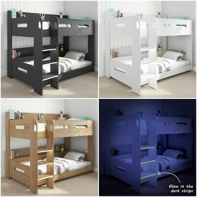 High Quality Wooden Bunk Bed with Storage - 5 Mattress and 3 Colour Options