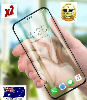 2X  iPhone X XR XS XS-Max 8 7 Plus Tempered Glass Screen Protector Apple
