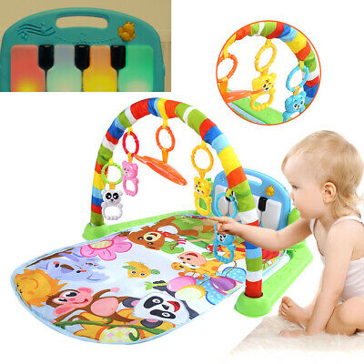 Baby Gym Play Mat Lay&Play 3 in1 Fitness + Music + Lights Fun Piano pink Girl UK