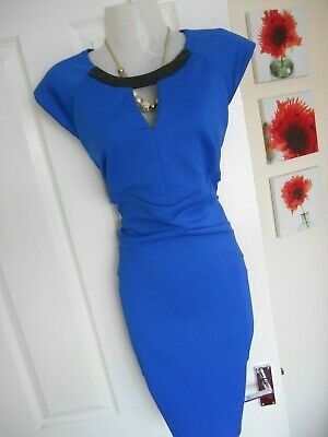 c641a8c668 **Stunning** River Island Size 14 Blue Cut Out Wiggle Dress *Fast