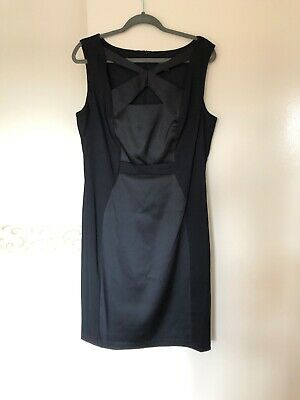 Women Black Cocktail Dress Size 16 UK Cutout Neckline Party Cruise Holidays
