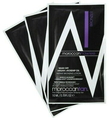 MoroccanTan MOROCCAN TAN Wash Off FLAWLESS Instant Bronzing Lotion 10ML Sample