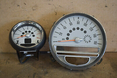BMW Mini Cooper One R55 R56 R57 Speedo and Revs Counter 9189505 9189521