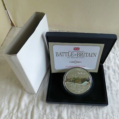 JERSEY 2010 5oz £10 SPITFIRE - BATTLE OF BRITAIN SILVER PROOF - boxed/coa