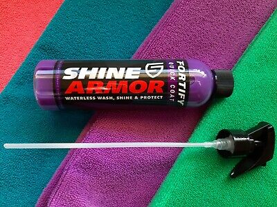 Shine Armor Fortify Quick Coat (Made in USA) + 4 Micro Fibre Cloths (35 x 35 cm)
