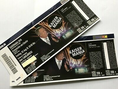 2 Tickets Roland Kaiser Kaisermania, Freitag, 02.08.2019, Dresden am Elbufer