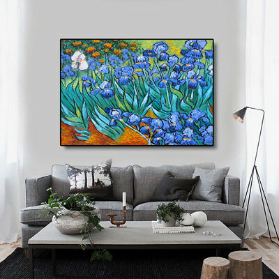 VV820 100% Hand-painted oil paiting on canvas flower-de-luce Wall decoration art