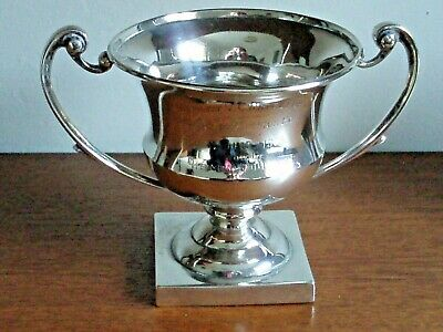 Rifle Club. Solid SILVER 162g. Trophy.  h.m.1910. Kenley V.C. Military