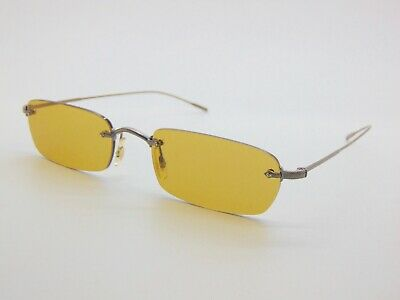 Oliver Peoples DAVEIGH OV1243S 503985 Antique Gold/Mustard Rimless Sunglasses