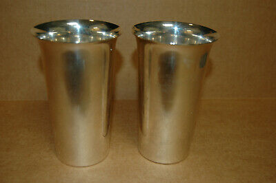 """Two  5"""" STERLING SILVER MINT JULEP CUPS, P.S. CO."""