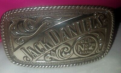 Jack Daniels Belt Buckle Rectangle Old No. 7 Brand 2005 Liquor Collectors