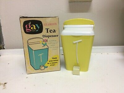 Vintage Gay Ware , Gayware Kitchen Canisters In Original Box, TEA , 50s Retro