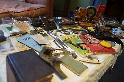 Mixed Job Lot Antique Vintage Collectables Curios Trinkets Resell Value