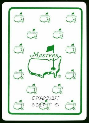 Masters Multi Logo Ace Of Spades White Augusta National Single Playing Swap Card