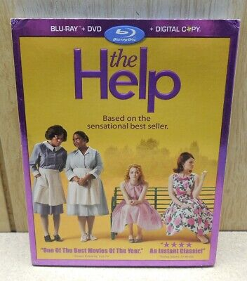 The Help (Blu-ray/DVD, 2011, 3-Disc Set, Includes Digital Copy)- PRE-OWNED!