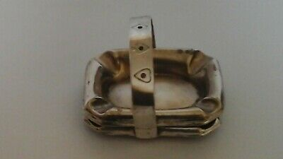 Antique Silver Ashtray 3 in 1 playng cards logos. Pro.Pat. England. Used.