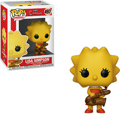 Simpsons - Lisa-Saxaphone - Funko Pop! Animation: (2019, Toy NUEVO)