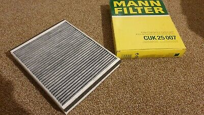 Mann CUK2757 Cabin Filter Element Activated Charcoal Flat 32mm Height Service