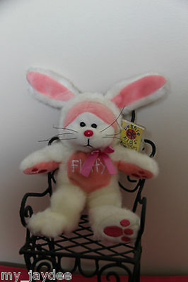 BK325 – Fluffy the Bunny - BEANIE KID WITH TAG PROTECTOR COLLECTOR ITEM RARE