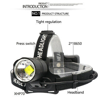 Led 90000 Flashlight Lumens 18650 Rechargeable Strong Tactical dxEQoBeCWr