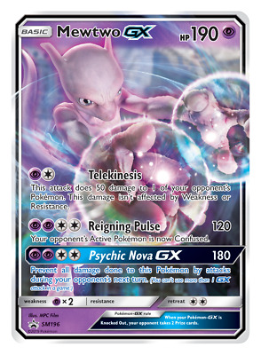 Pokemon Detective Pikachu Promo SM196 Mewtwo GX Normal Size Card