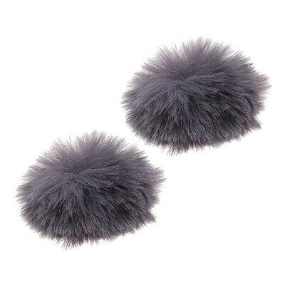 Microphone Furry Windscreen Windshield Muff Mic Furry Cover Gray, Set 2