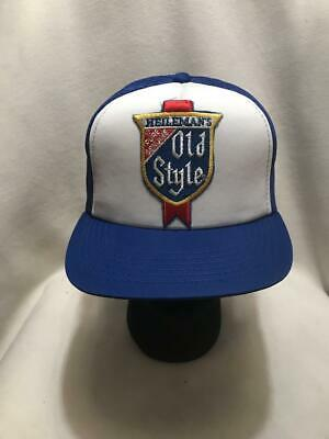 Vintage Heilemans Old Style Beer Patch Snapback Hat Cap