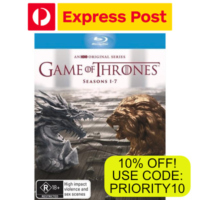 Game Of Thrones The Complete Seasons 1-7 New Sealed Blu-Ray Box Set RB EXPRESS