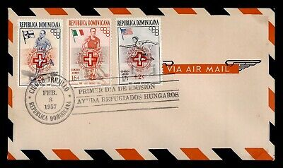 Dr Who 1957 Dominican Republic Olympic Games Fdc C102132