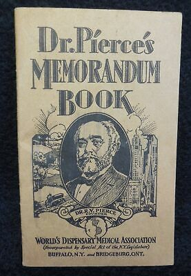 1929 1930 Dr. Pierce's Memorandum Book Buffalo N.Y. Dispensary Laboratory