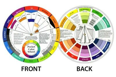 Artists Colour Wheel Mixing Guide 13cm Diameter By One Or Bulk Buy 12 Pack