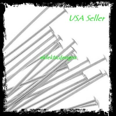 30mm 50pcs .7mm 304 Surgical Stainless Steel Headpins Flat Head Pins Findings