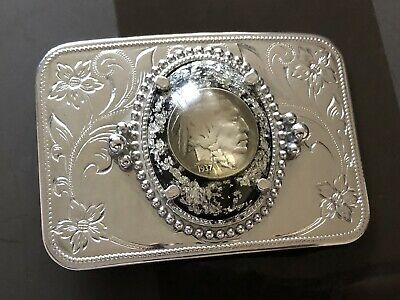 Native American Head Nickel Buffalo 1937 Coin Belt Buckle