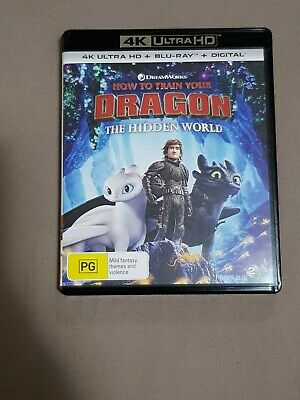 How To Train Your Dragon 3 The Hidden World 4K UHD Ultra HD + Blu-Ray AS NEW
