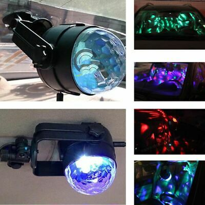 Crystal Ball Disco USB Projector Stage Light KTV LED Lamp RGB DJ Club Disco