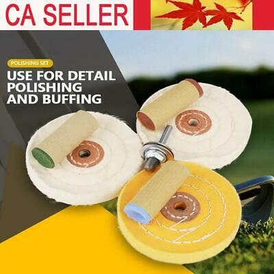 7Pcs Sponge Polishing Waxing Buffing Pads Kit Set Compound For Auto Car