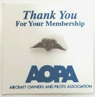 Vintage AOPA Gold Tone Lapel Pin Aircraft Owners Pilots Association Member Pin