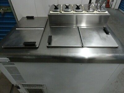 nelson commercial refrigerated  Ice Cream Dipping Cabinet W/ topping Rail