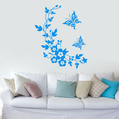 1pc Bathroom Butterfly Wall Stickers Removable Decals Mural DIY Home Decor
