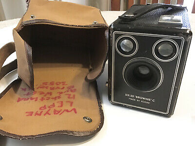 Vintage Kodak Six - 20 Brownie C Box Camera Antique Box Camera. Circa 1950