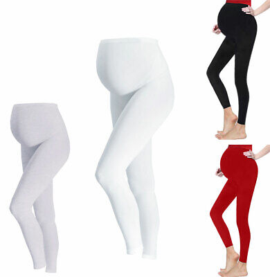 Pregnancy Wear Full Length Skinny Women Soft Relax Fit Maternity Cotton Leggings