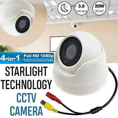 Dome Cctv Camera 2.4Mp Full Hd 1080P Outdoor Night Vision 4In1 Tvi Ahd Cvi Cvbs