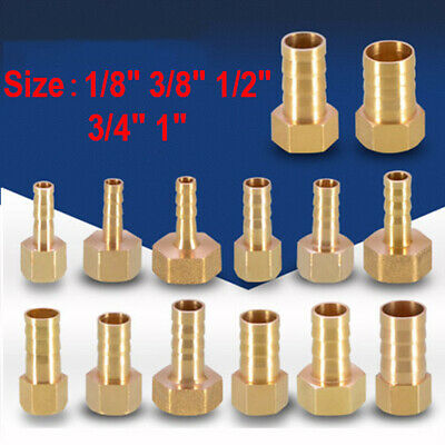 "Brass Thread Connector BSP Male Pipe Barb Hose Fitting Tail 1/8"" 1/2"" 3/4"" 1"""