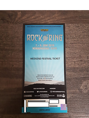 Rock am Ring Weekend Festival Ticket 7.-9. Juni 2019