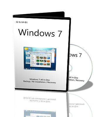Windows 7 32 + 64bit versions Home, Professional, Ultimate with Pro Key / Serial