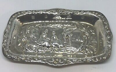 Vintage Solid Silver Trinket Tray Or Pin Dish