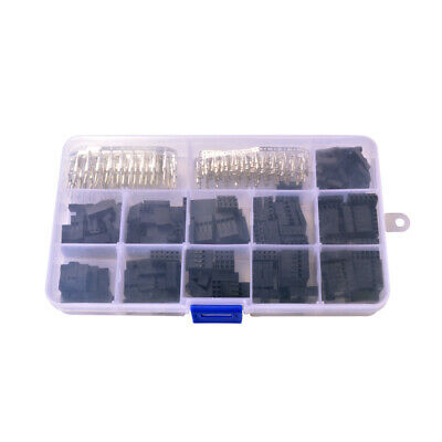 420pcs 2.54mm Pin Headers Male/Female Housing Connector Kit Box for Dupont TE716