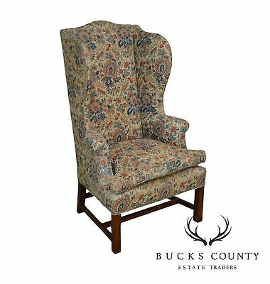 Chippendale Style Antique Vintage Wing Chair