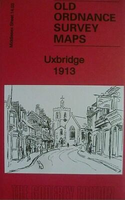 Old Ordnance Survey Map of Uxbridge 1913